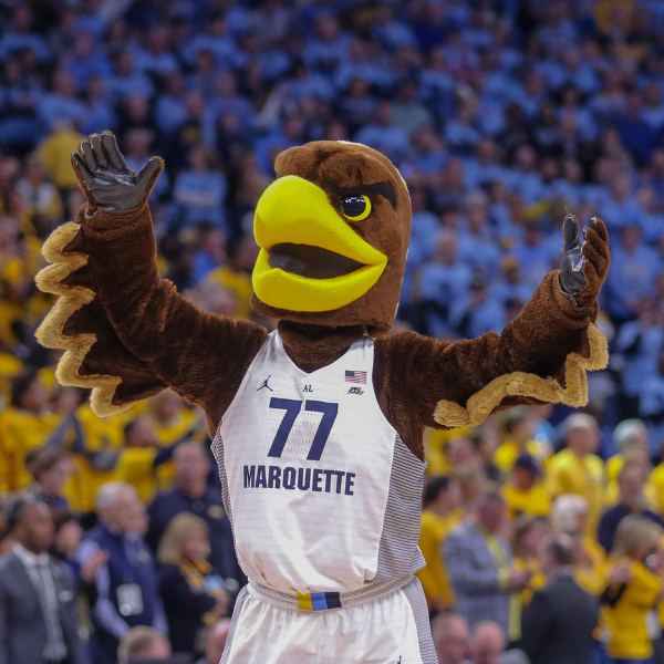 Marquette University Athletics image for use on social media.
