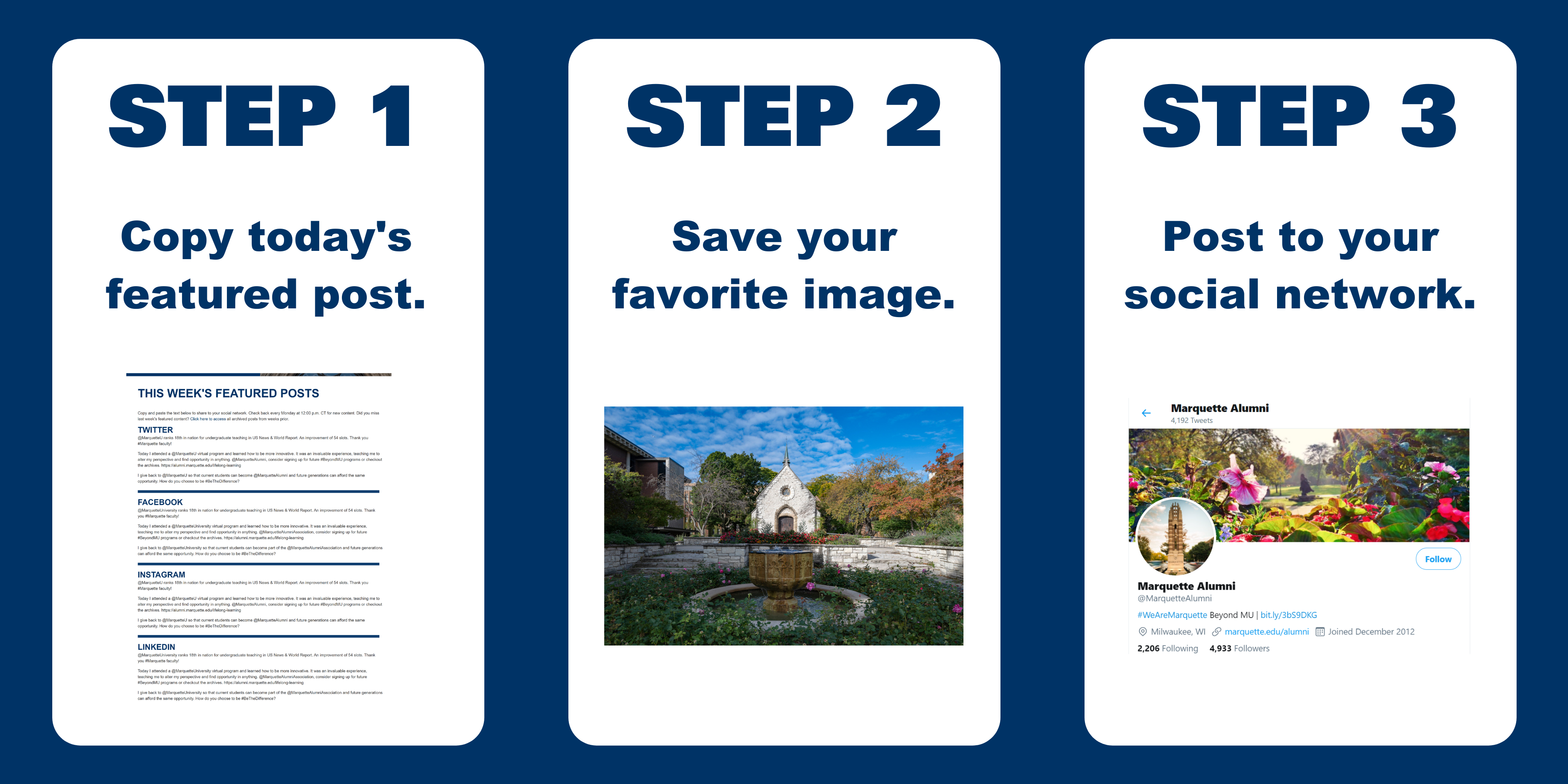 Easy steps to post to social.